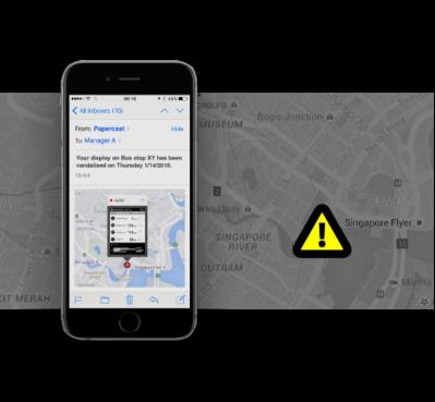 Papercast E-paper Passenger Information Display Management Platform