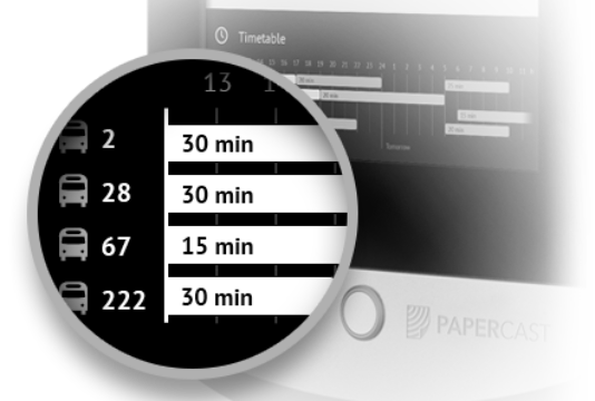 E-Paper Bus Stop Display Real-time Passenger Information System